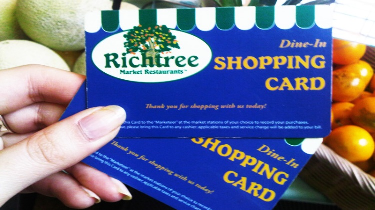Shopping Cards @ Richtree Market Restaurant