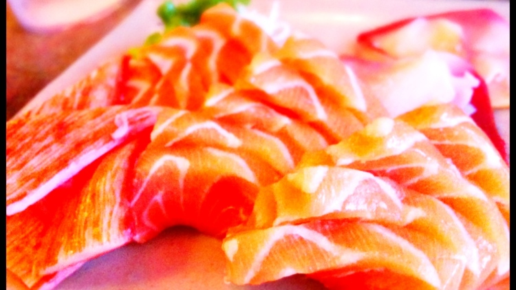 Salmon and Surf Clam Sashimi