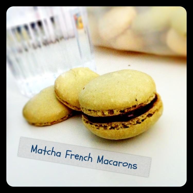 Matcha French Macarons