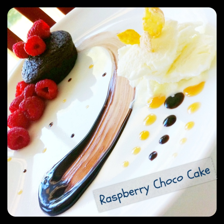 Mini Raspberry-Filled Chocolate Cake