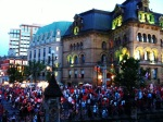 The Red & White Crowds Around Parliament on Canada Day