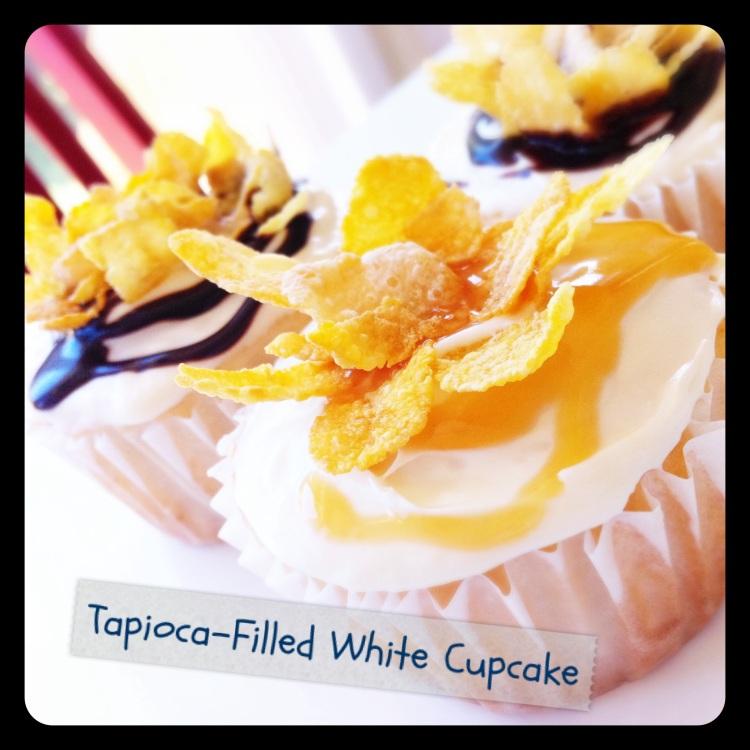 Tapioca-Filled White Cupcakes